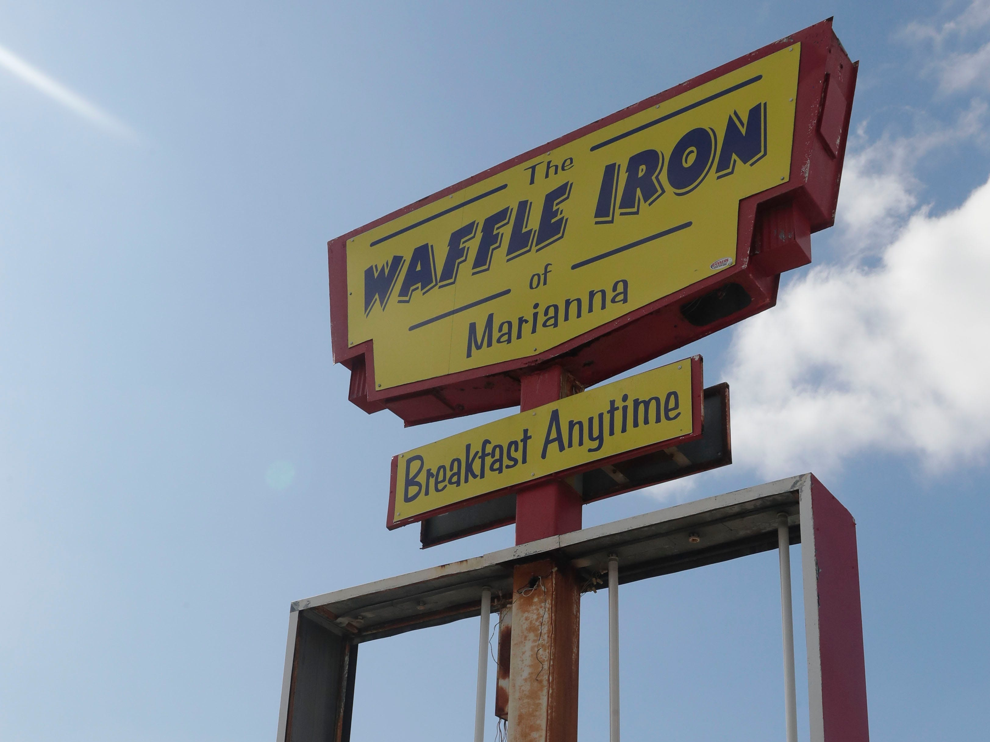The Waffle Iron in Marianna, Fla. is open for business despite still having unresolved damage caused by Hurricane Michael, Tuesday Feb. 5, 2019.