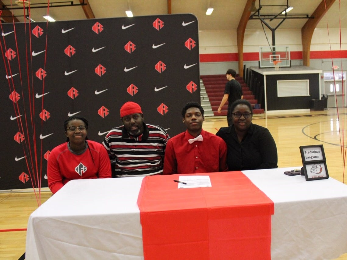 NFC defensive back Tredarious Langston signed with Navarre Community College during National Signing Day ceremonies on Feb. 6, 2019.