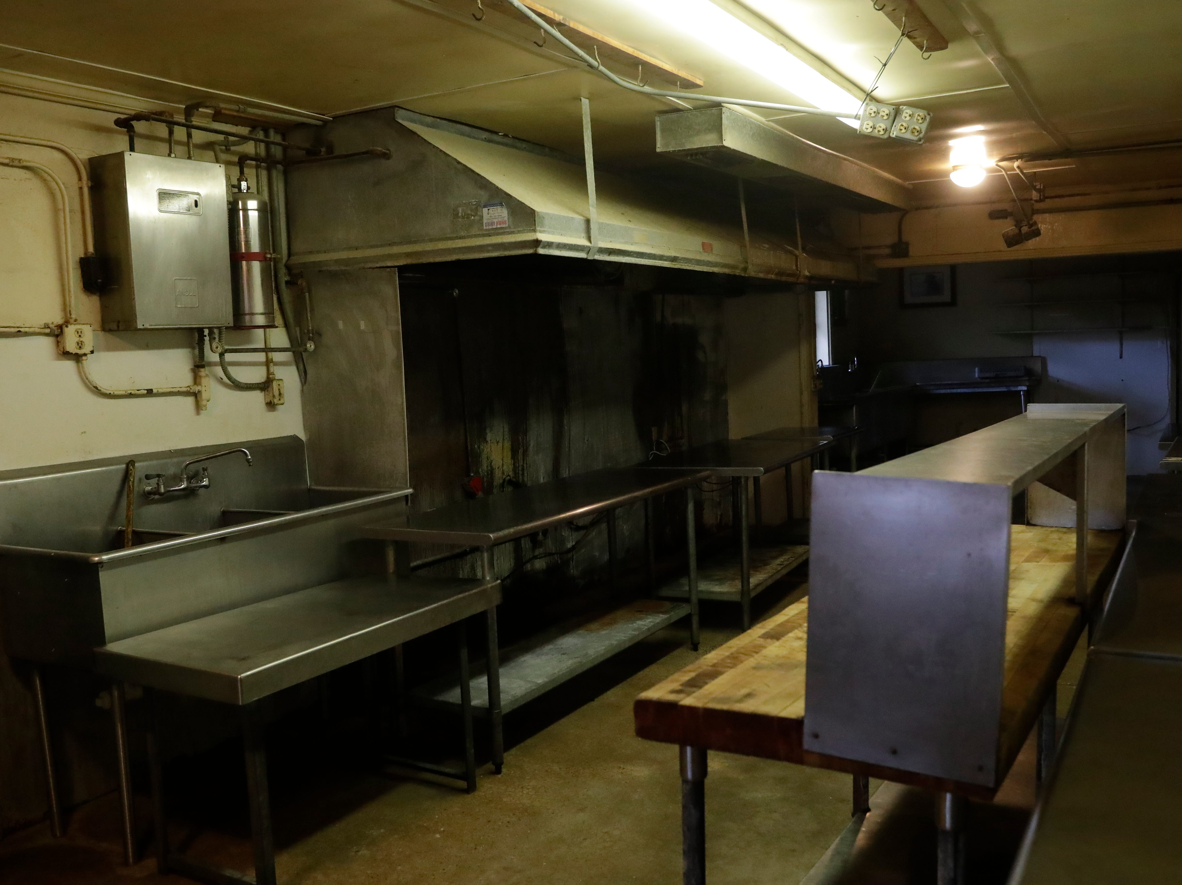 The inside of the kitchen at Spring Creek Restaurant is now bare, Tuesday Feb. 5, 2019, after being flooded and damaged by Hurricane Michael in Oct. 2018.