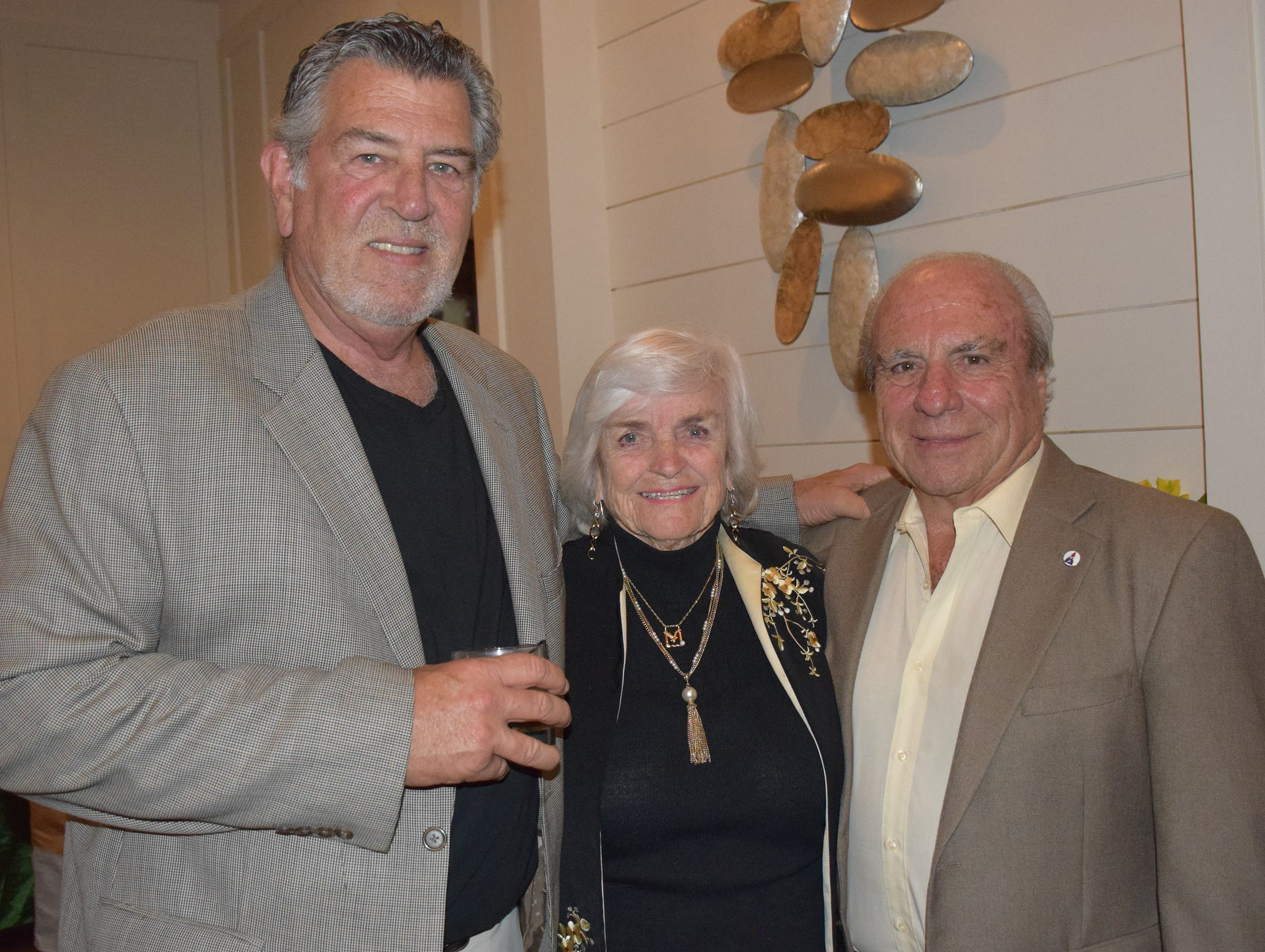Pat Rogers, left, and Marcia And Gavin Ruotulo at the Diamonds in the Rough Gala at Grand Harbor Golf & Beach Club on Jan.24.