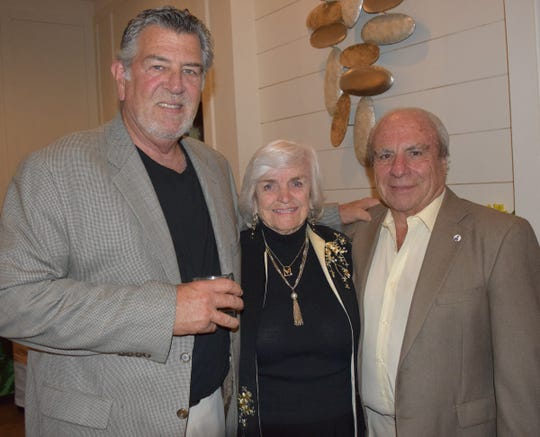 Pat Rogers, left, and Marcia And Gavin Ruotulo at the Diamonds in the Rough Gala at Grand Harbor Golf & Beach Club on Jan. 24.