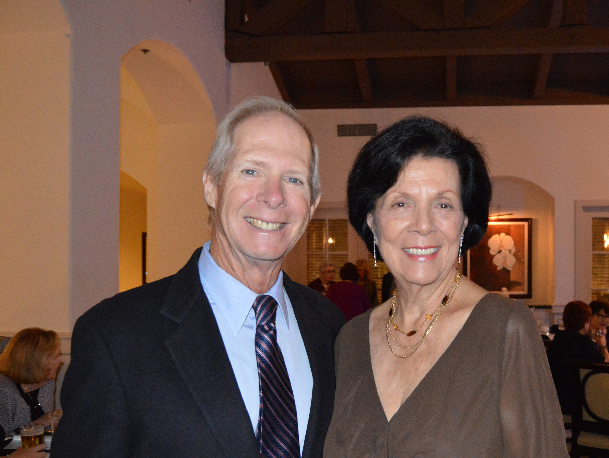 Doug and Betty Sweeney at the Diamonds in the Rough Gala at Grand Harbor Golf & Beach Club on Jan.24.