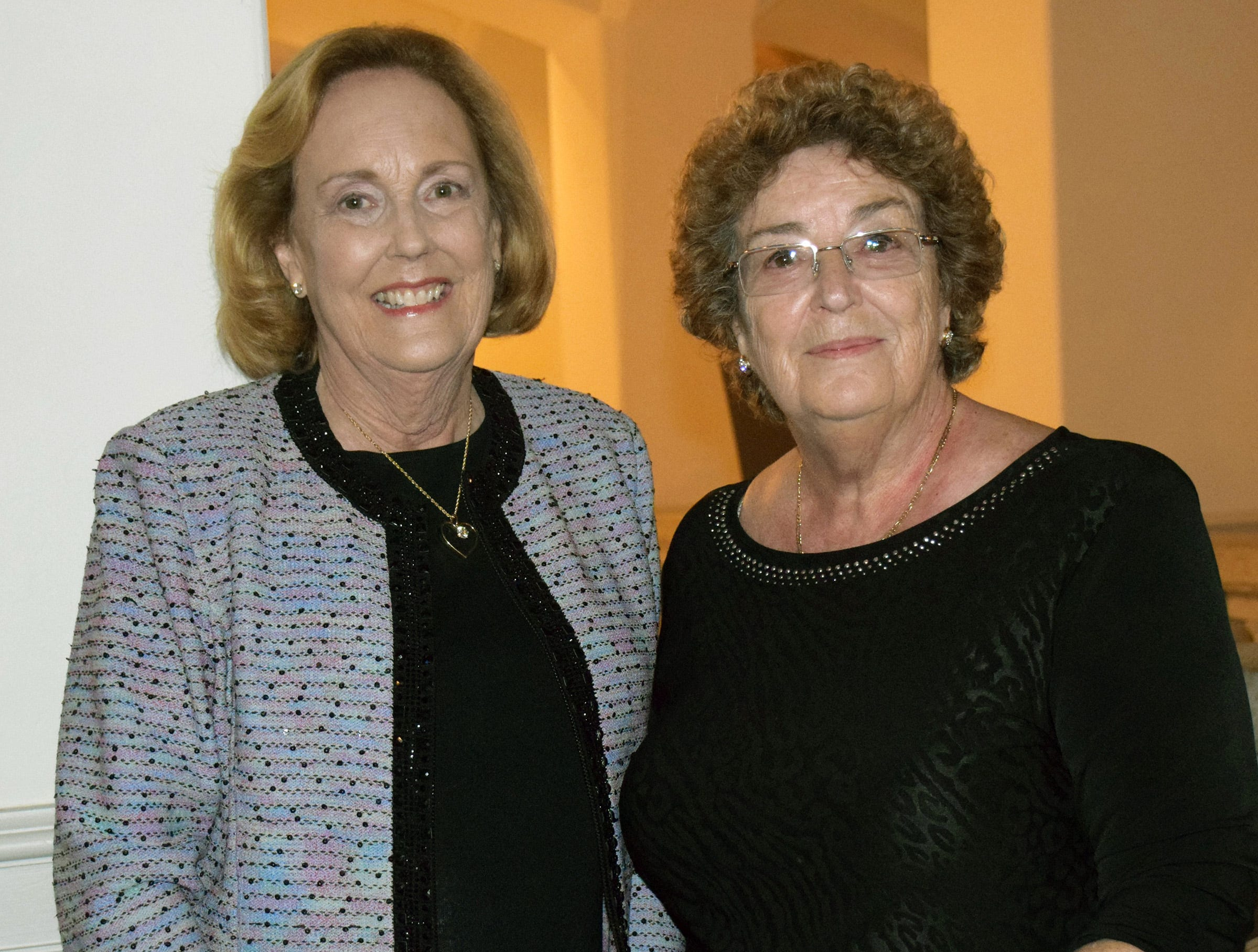 Diana Stark and Louise Hubbard at the Diamonds in the Rough Gala at Grand Harbor Golf & Beach Club on Jan.24.