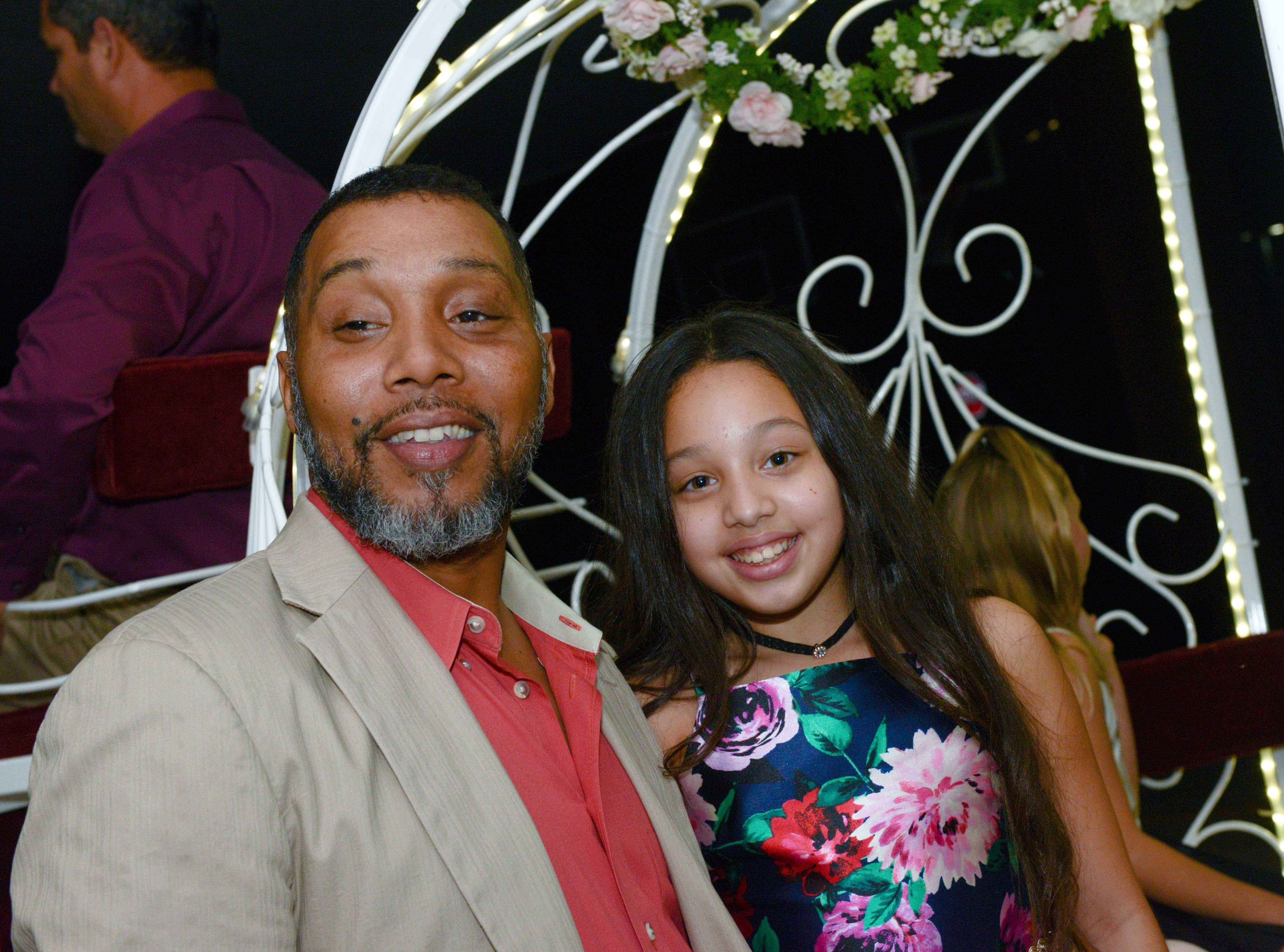 Will and Adelina Falcon at the Father/Daughter/Someone Special Dance at Renaissance Charter School of St. Lucie.