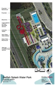 Sailfish Splash Waterpark opened in Stuart in 2012 and has room to expand over the next decade to include a new 40-foot tower, up to four slides and a flowrider pool depicted in this rendering provided by Martin County Parks and Recreation officials.