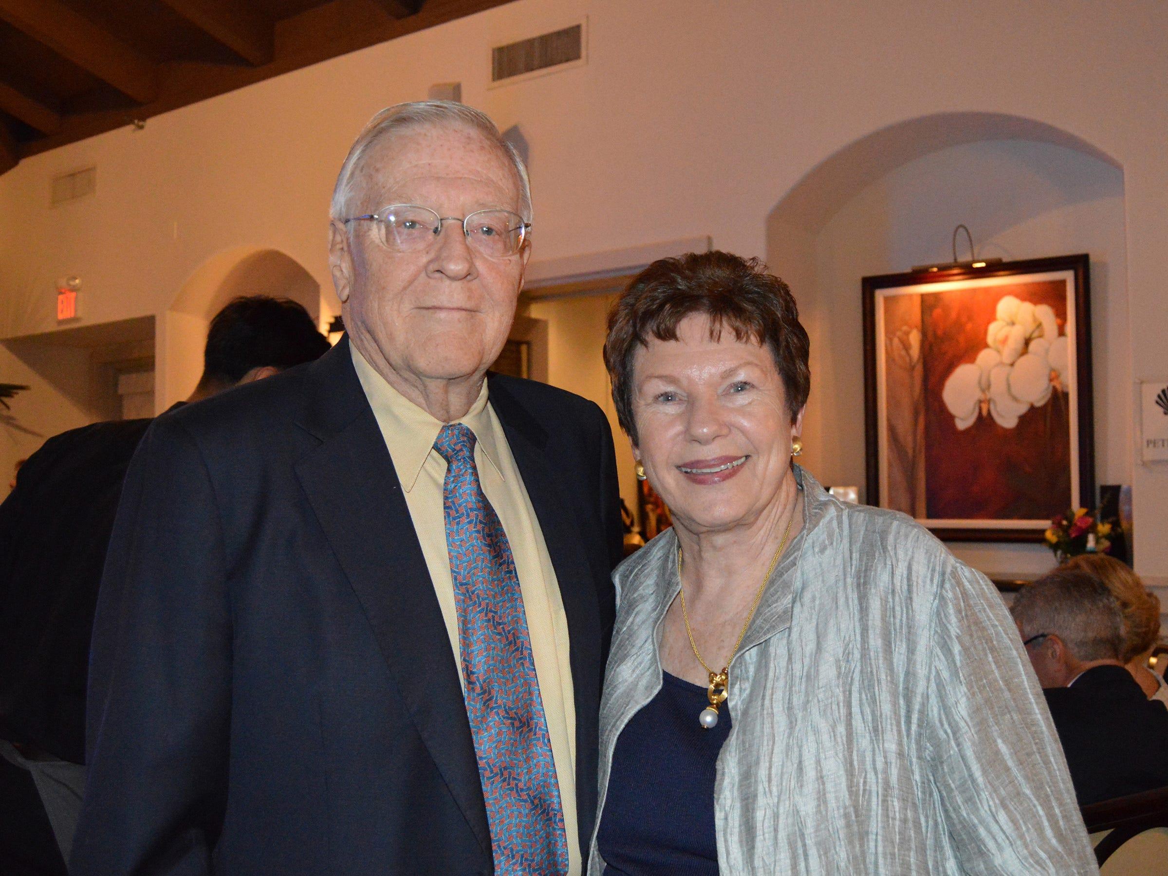Mel and Linda Teetz  at the Diamonds in the Rough Gala at Grand Harbor Golf & Beach Club on Jan.24.