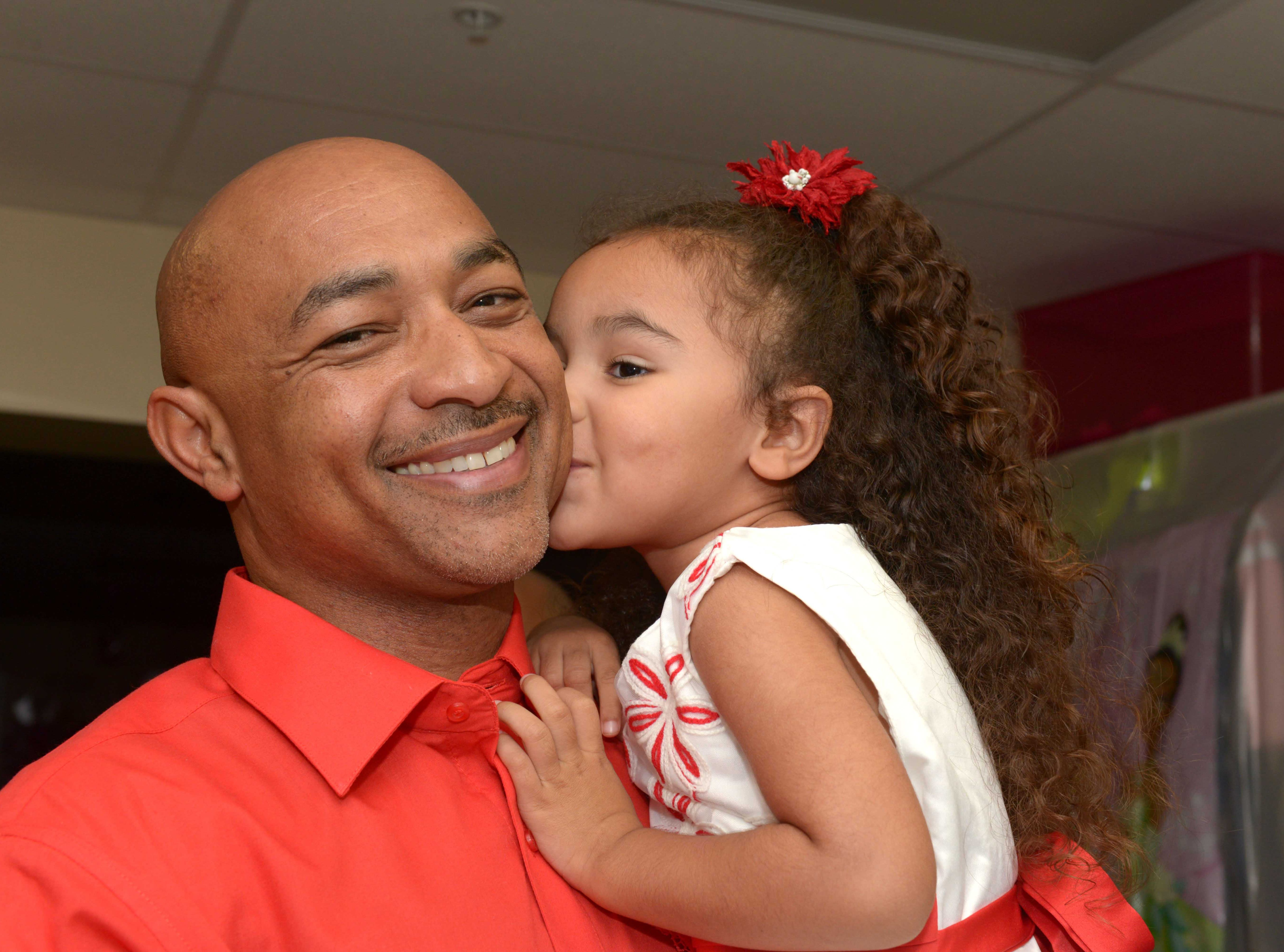 Kevin and Kallee Morgan at the Father/Daughter/Someone Special Dance at Renaissance Charter School of St. Lucie.