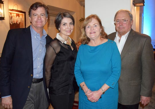 Greg and Angela Nelson, left, and Bernadette and Mike Emerick at the Diamonds in the Rough Gala at Grand Harbor Golf & Beach Club on Jan.24.