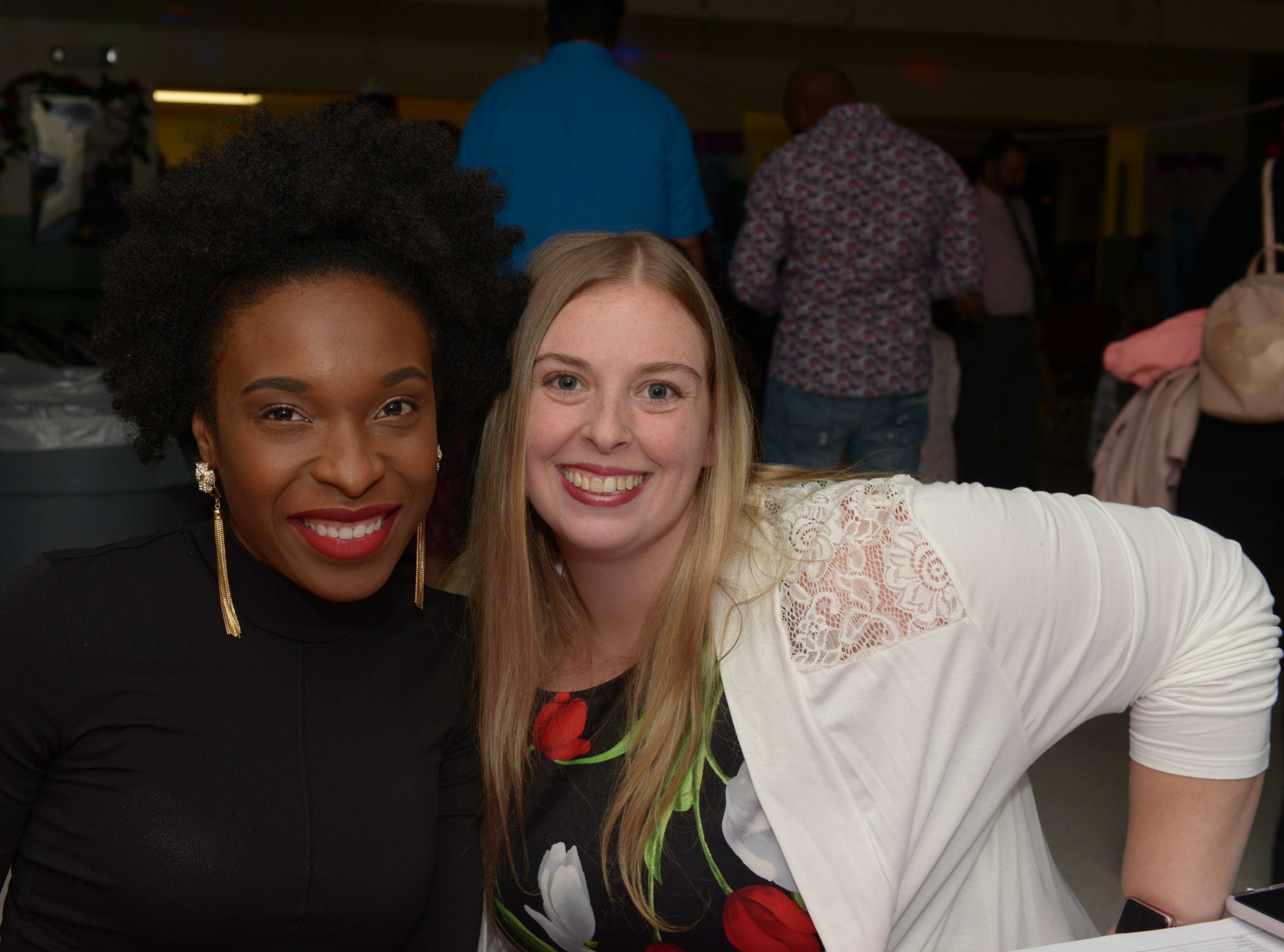 Catrina St.-Cyr and Kim Laird at the Father/Daughter/Someone Special Dance at Renaissance Charter School of St. Lucie.
