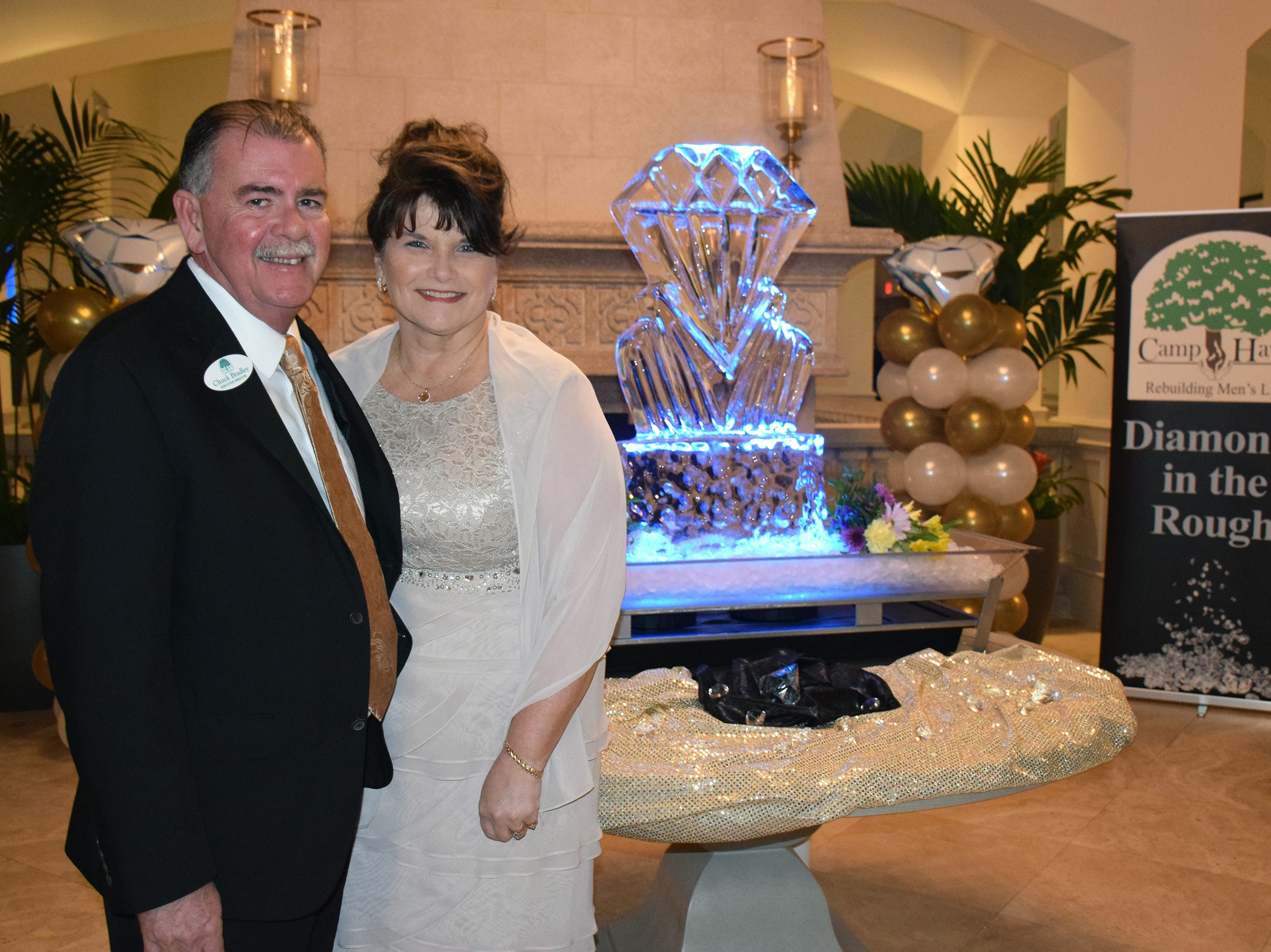 Camp Haven Executive Director Chuck Bradley and Brenda Bradley at the Diamonds in the Rough Gala at the Grand Harbor Golf & Beach Club on Jan.24.