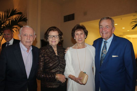 David and Barbara McKenna, left, with Carol and Dick Koppel at the Gifford Youth Achievement Center's Snow Ball.