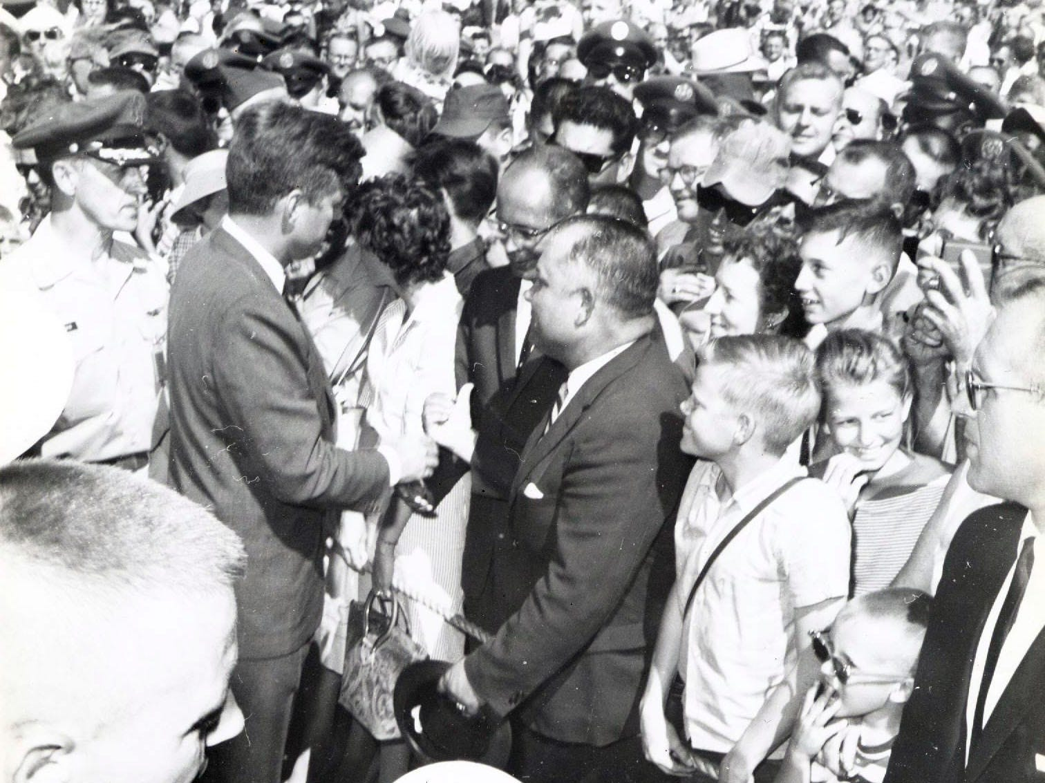 John F. Kennedy visits El Paso. Not sure if this is the 1960 or the 1963 vist.
