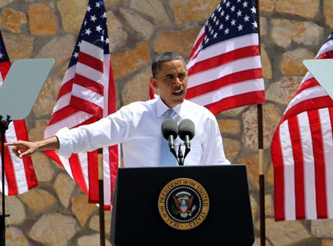President Barack Obama speaks at the Chamizal National Memorial.