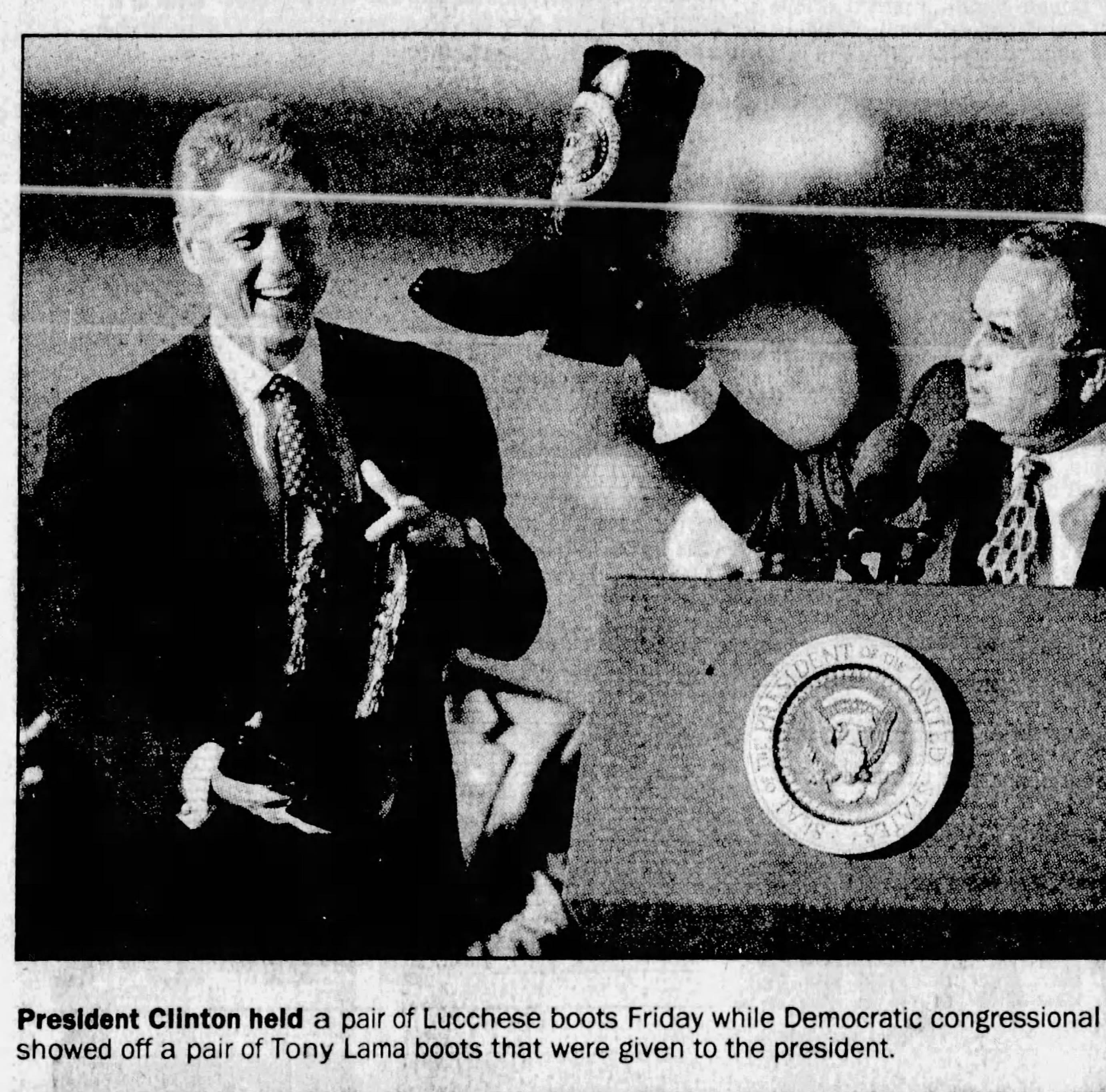 Past presidential visits: Bill Clinton in 1996