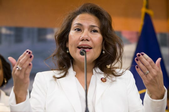 U.S. Rep. Veronica Escobar of El Paso spoke before the president's State of the Union address Tuesday about the state of women in the nation and on Capitol Hill.