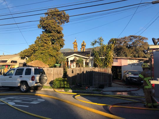 This was the scene of a residential structure fire along North Olive Street in Ventura on Tuesday afternoon.