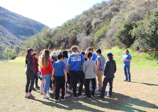 The Conejo Valley Unified School District needed to find a Plan B after the long-time location of its outdoor school burned in the Woolsey Fire. CVUSD students are seen at Camp Bloomfield last year.