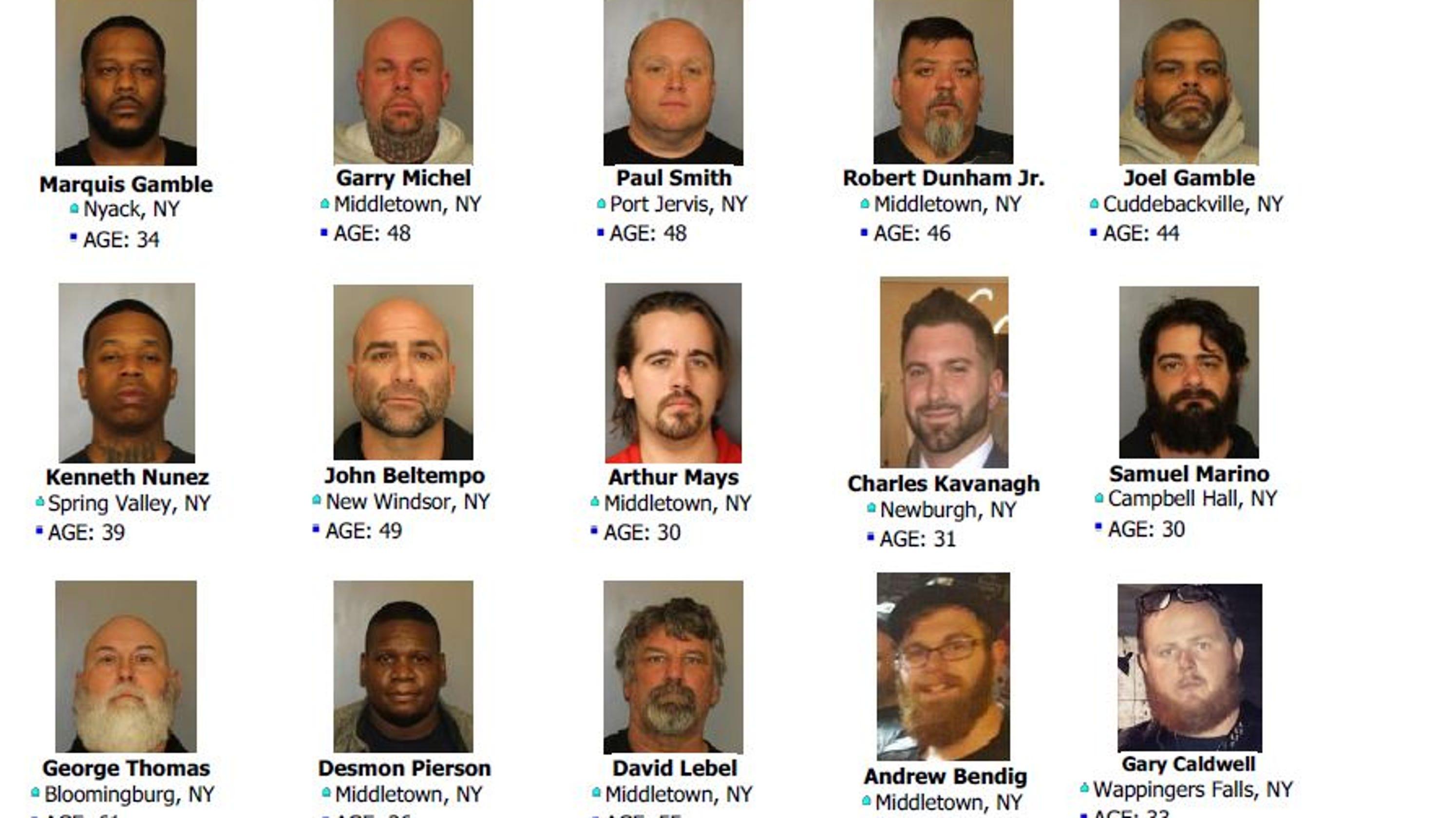 Suspects in cocaine, fentanyl, marijuana sweep: 27 mug shot photos