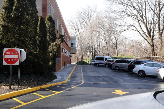 A path leading to the new entrance to The New Jewish Home, Sarah Neuman in Westchester Feb. 6, 2019 in Mamaroneck. Visitors to the nursing home have complained about parking and the building's new lay out making them walk much farther to enter the building and see their loved ones.