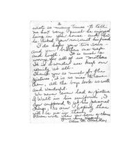 Part 3/3 of the letter from Walter Critchley's mother to Dr. Don Stewart.