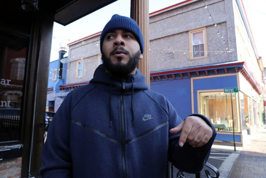 Ramon Ramos, a resident in the village of Haverstraw, says redevelopment would cause housing prices to go up and drive out the local population, Feb. 5, 2019 on Main Street in Haverstraw.