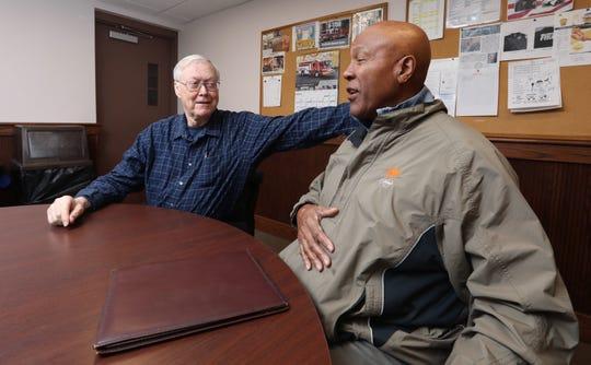 Rockland CUPON coordinator Gordon Wren Jr., left, and Micheal Miller, Hillcrest CUPON chairman at the Hillcrest Fire Dept. Feb. 6, 2019.