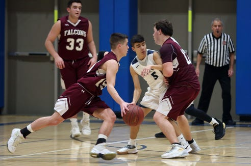 Putnam Valley defeated Albertus Magnus 46-45 during basketball action at Putnam Valley High School Feb. 5,  2019.