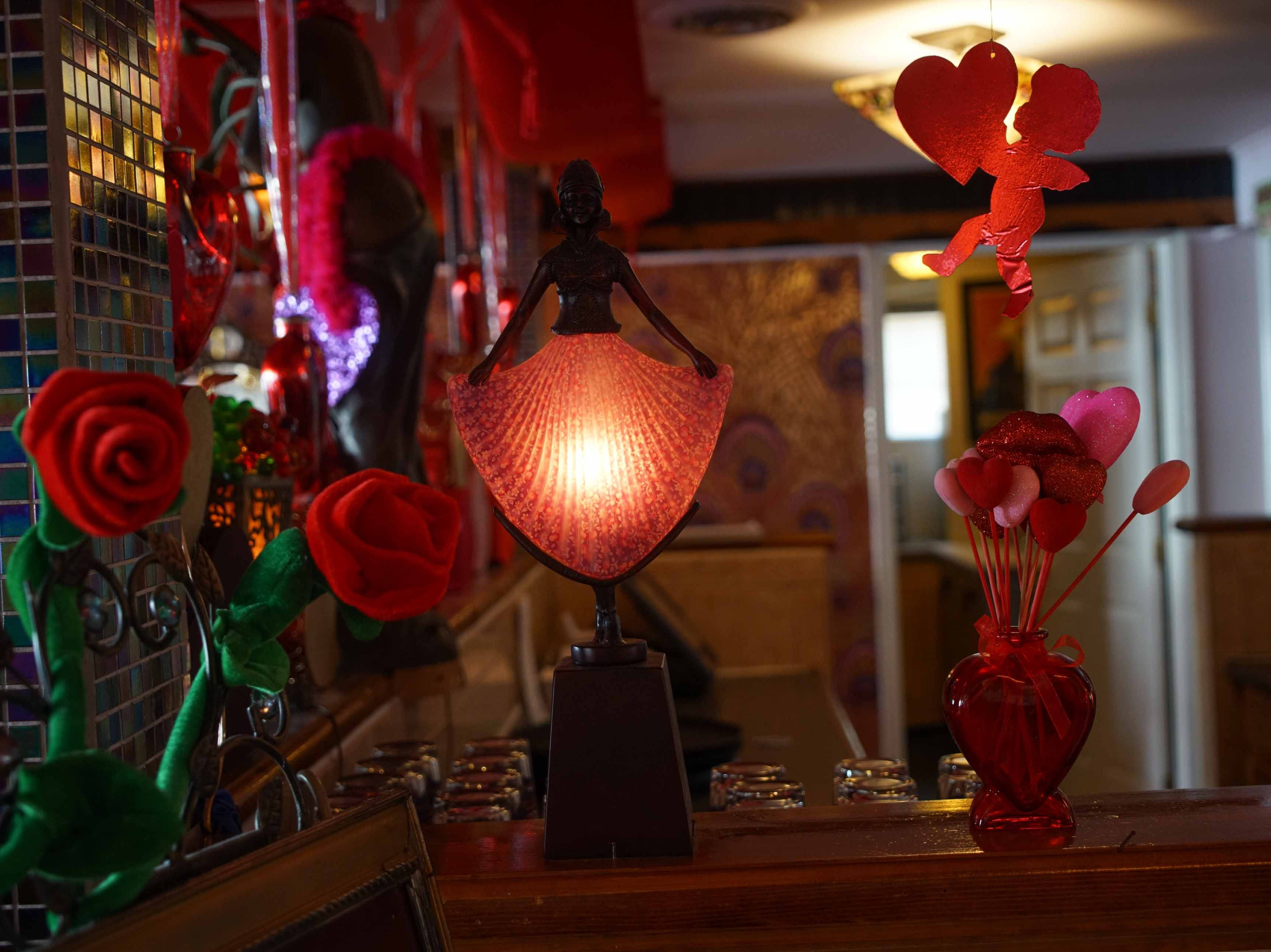 Serendipity Restaurant in Oak Orchard decks out the restaurant for Valentine's Day.