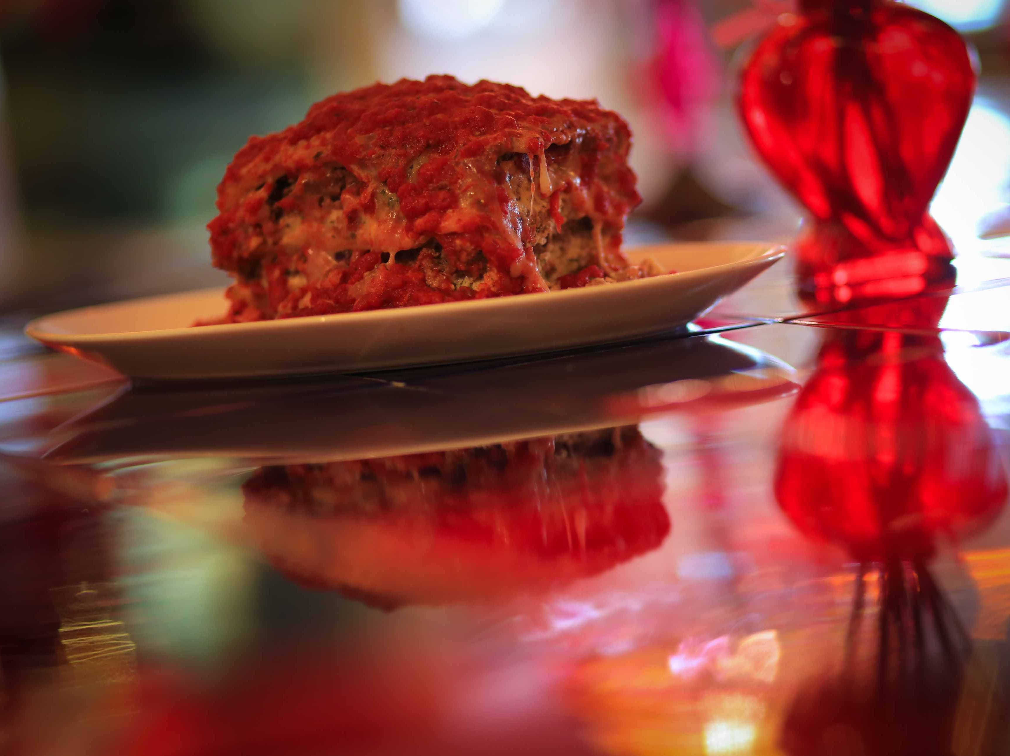 Homemade lasagna piled high is one of Serendipity Restaurant signature dishes on the menu at the Oak Orchard establishment that overlooks Indian River.