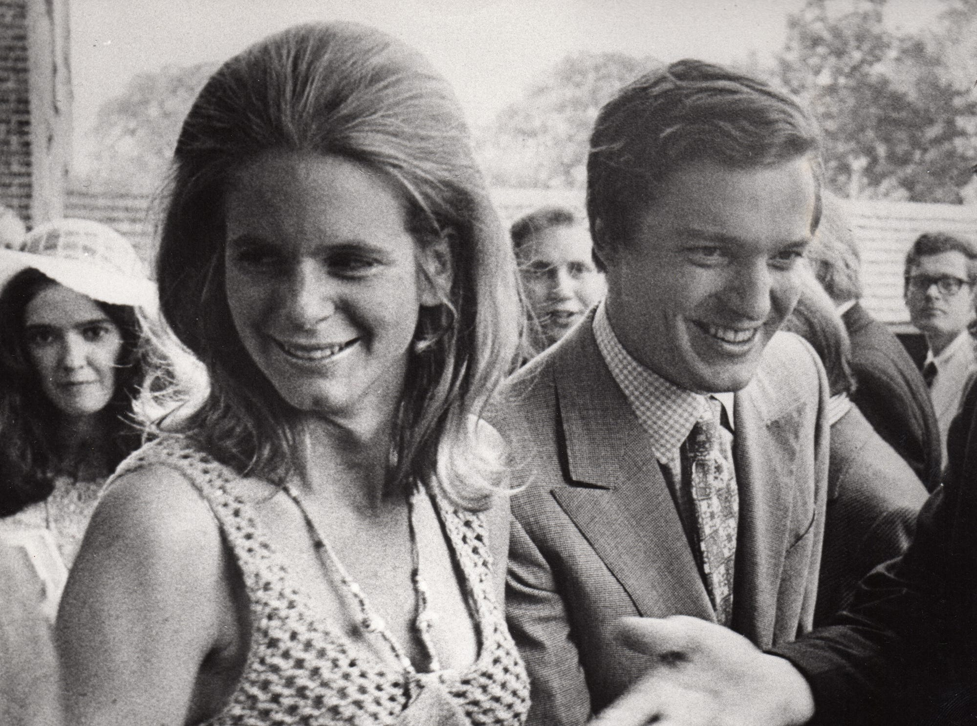 Phyllis and Jamie Wyeth at the opening of the Brandywine River Museum of Art in 1971.