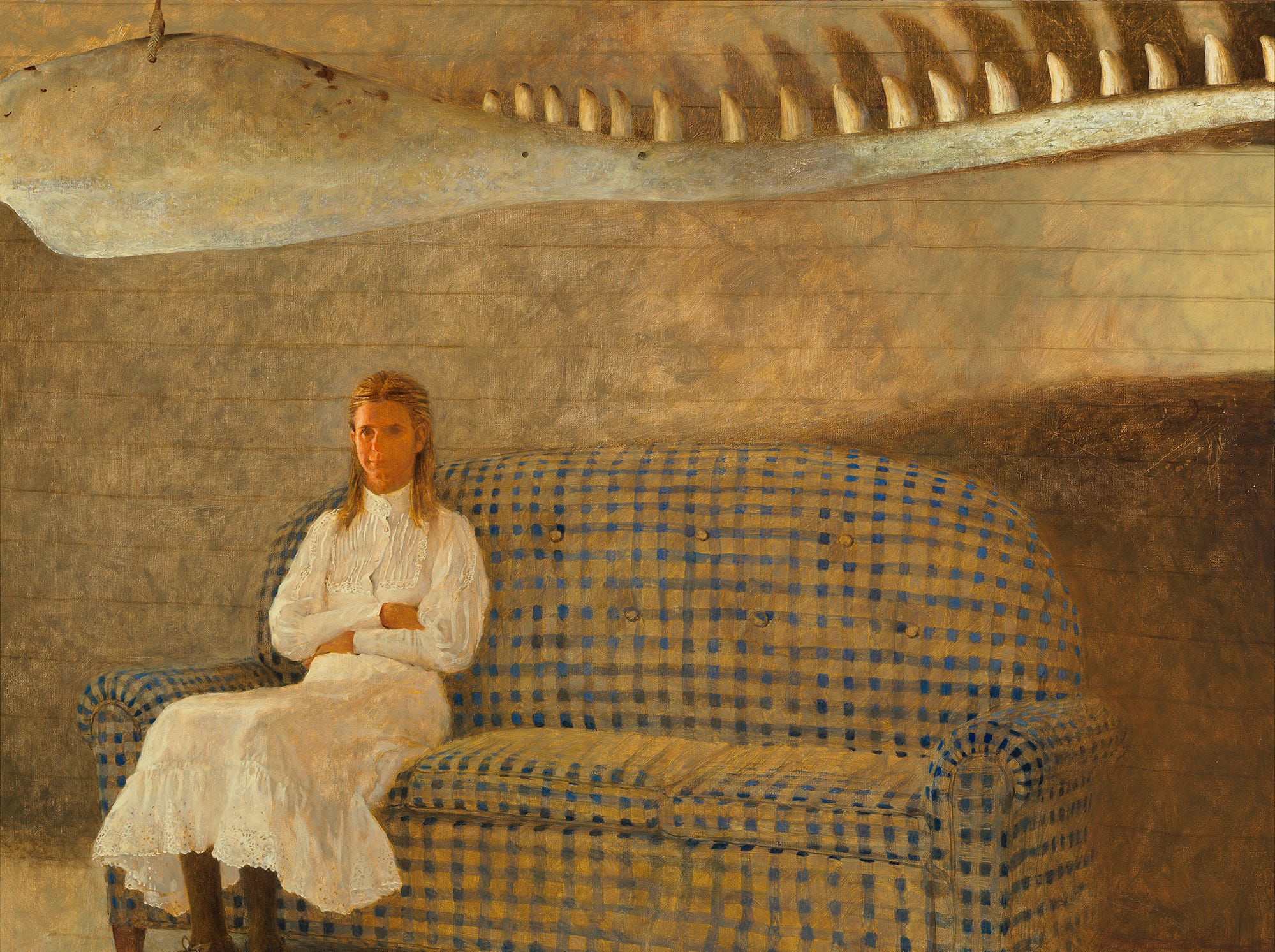 "Phyllis Wyeth in her husband Jamie Wyeth's ""Whale,"" painted in 1978."