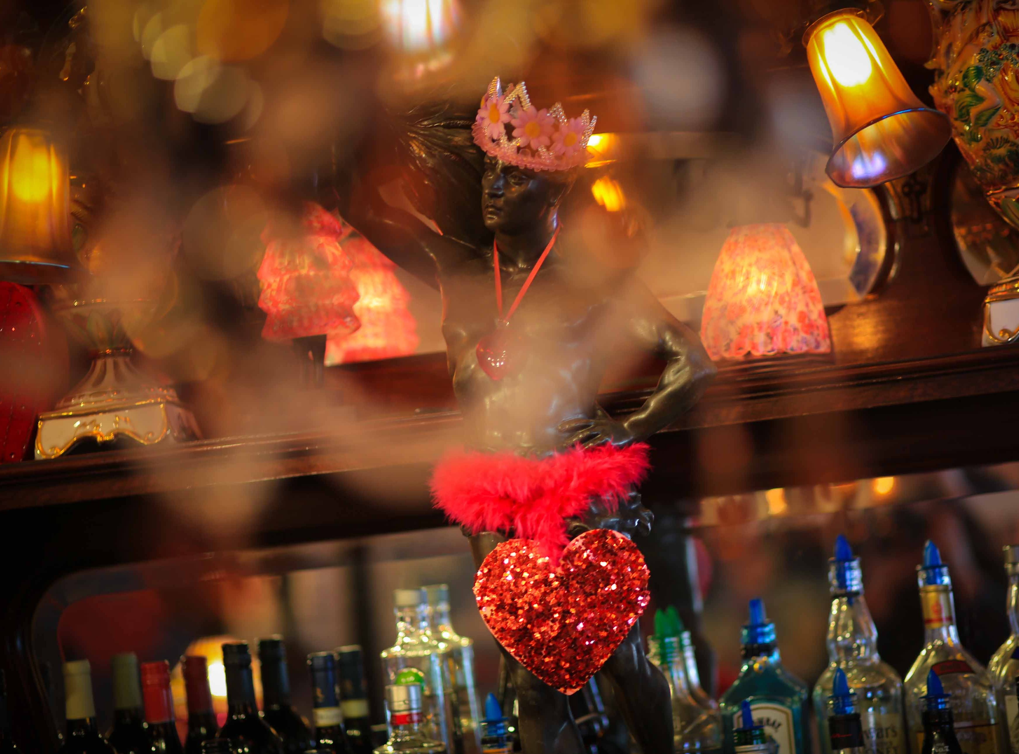 Valentine's Day decor is spread throughout Serendipity Restaurant in Oak Orchard to bring the romance to the holiday.