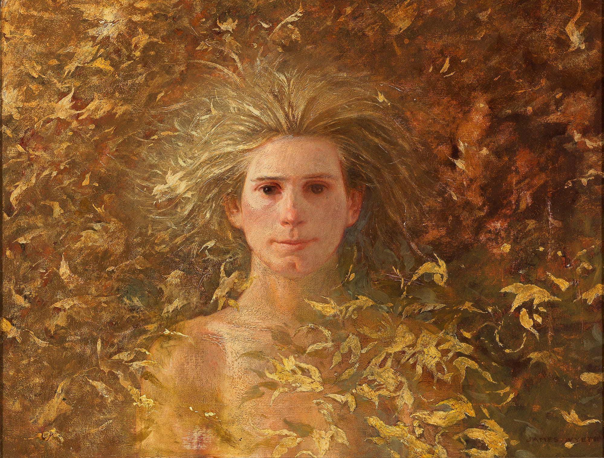 "Jamie Wyeth's ""Portrait of Phyllis Mills"" was painted in 1967. This was the artist's first portrait of his wife."