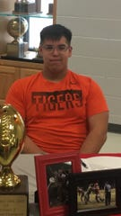 Holliday's Carson Tyler signed to play college football at East Central University in Ada, Oklahoma. Tyler was an offensive lineman for the Eagles, who won 12 games and averaged 278 rushing yards per outing.