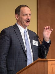 Pete Kappelman of Meadow Brook Dairy Farms speaks during the 2019 Wisconsin Agricultural Outlook Forum at Union South at UW–Madison in Madison, Wis., Tuesday, Jan. 29, 2019.