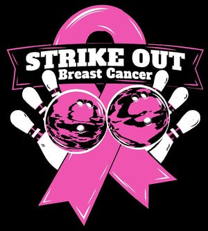 The Strike Out Breast Cancer 9-pin no tap tournament will be held on Saturday at Sunrise Strikes.