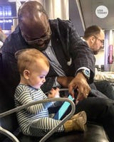 A dad was floored by the kindness his 16-month-old daughter received from a stranger while waiting to board a plane.