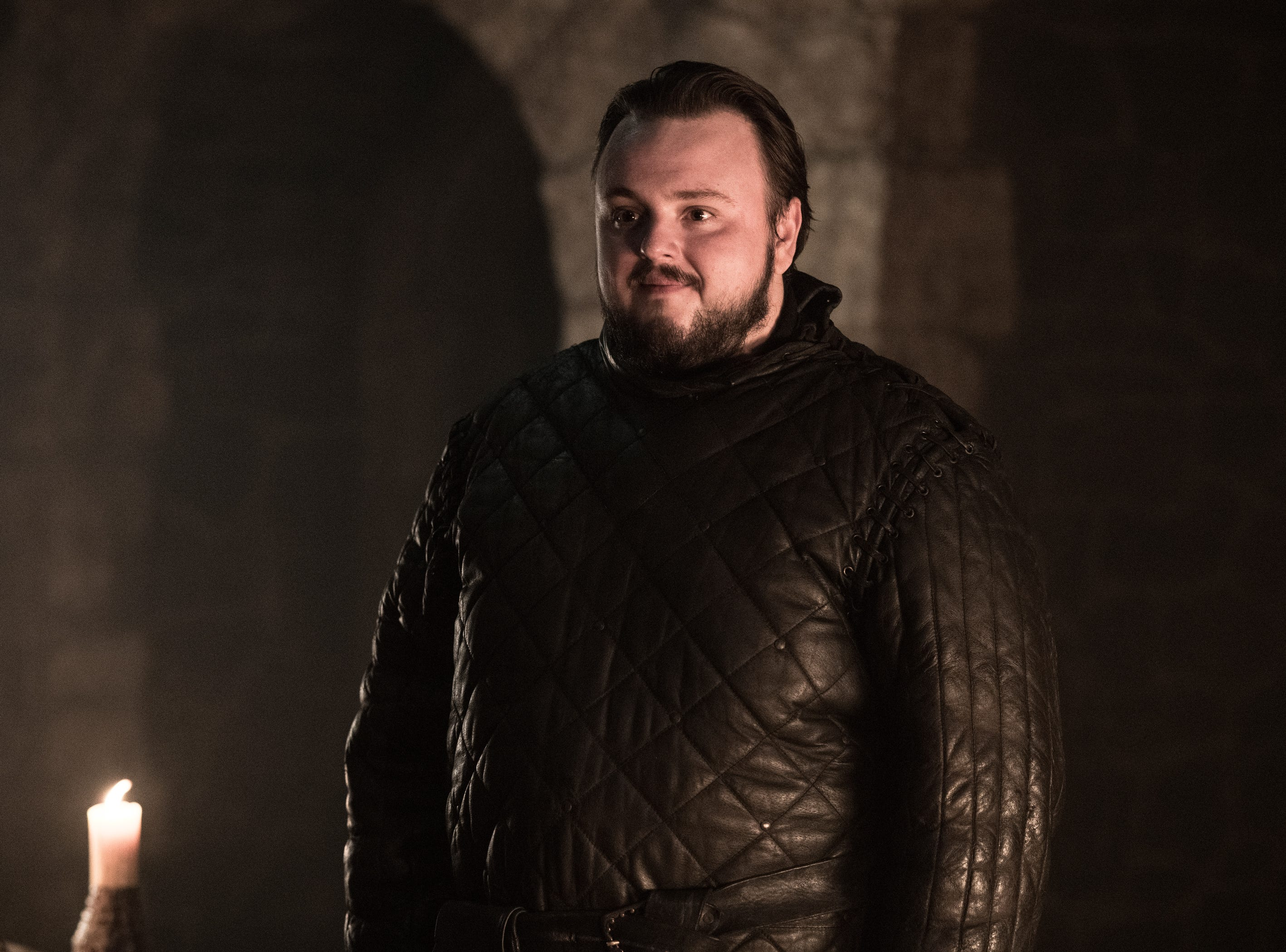 "John Bradley as Sam on ""Game of Thrones."""