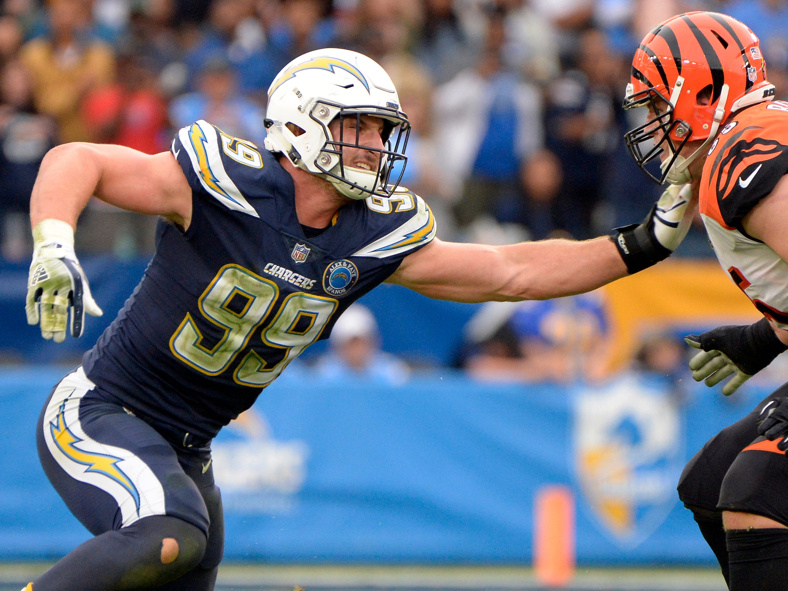 5. Chargers (6): Could best Bolts team in recent memory be evenbetter in 2019 with full seasons out of DE Joey Bosa and TE Hunter Henry?