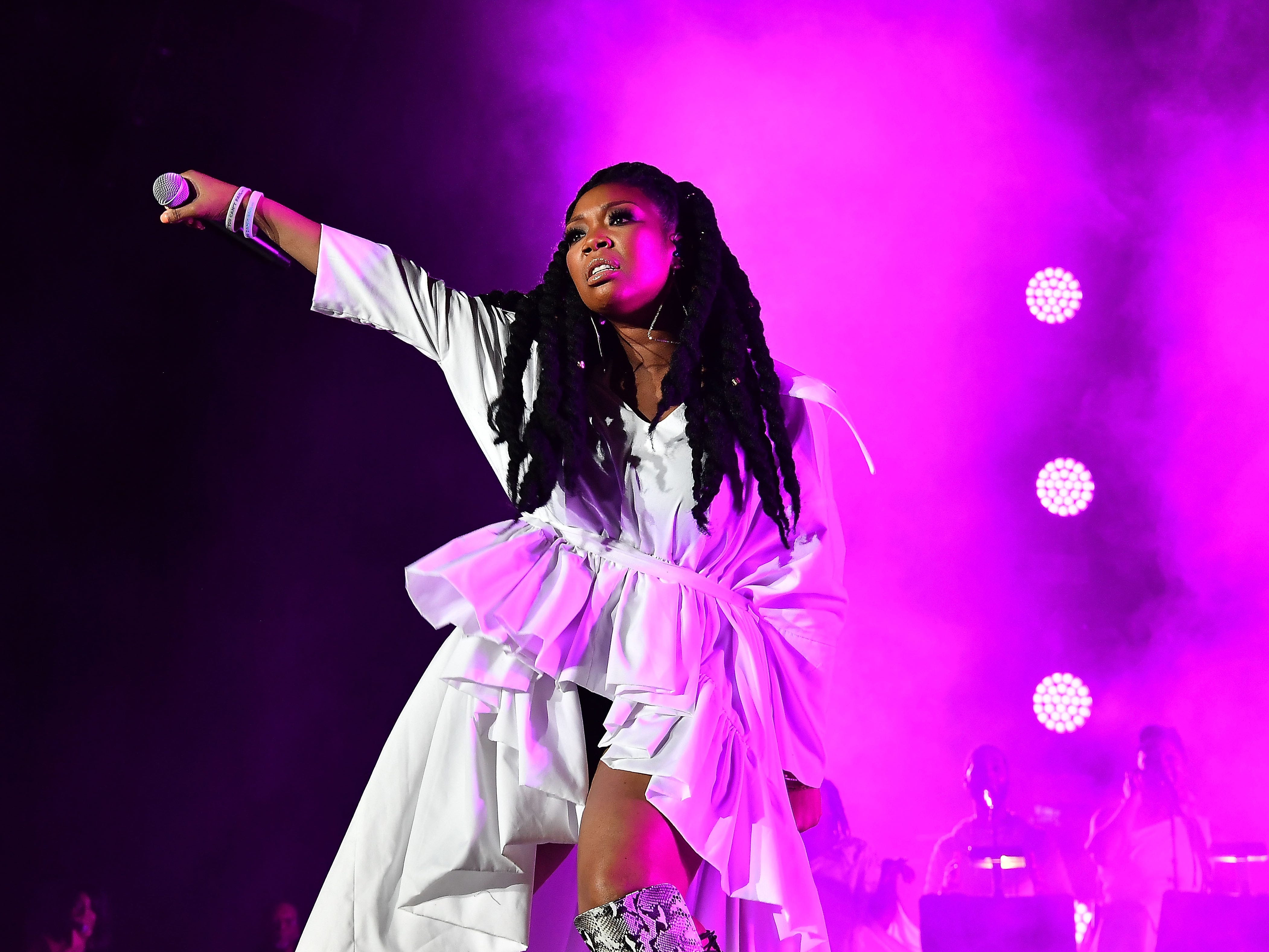 NEW ORLEANS, LA - JULY 07:  Brandy Norwood performs onstage during the 2018 Essence Festival -Day 2 at Louisiana Superdome on July 7, 2018 in New Orleans, Louisiana.  (Photo by Paras Griffin) ORG XMIT: 775184599 ORIG FILE ID: 993575084