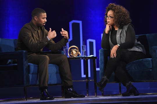 "Michael B. Jordan talked about playing ""Black Panther"" villain Erik Killmonger with Oprah Winfrey for her ""SuperSoul Conversations."""
