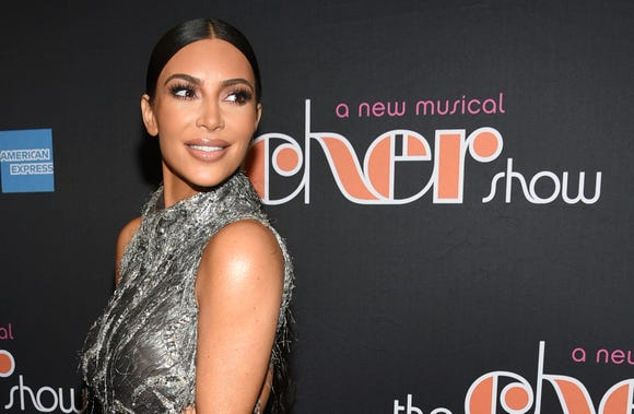 "Kim Kardashian West attends ""The Cher Show"" Broadway musical opening night in New York."