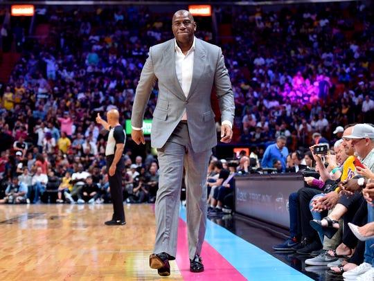 Magic Johnson holds the keys to the Lakers' future.