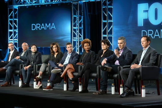 Matt Miller, far left, answers questions from the Television Critics Association, alongside other producers from Fox.