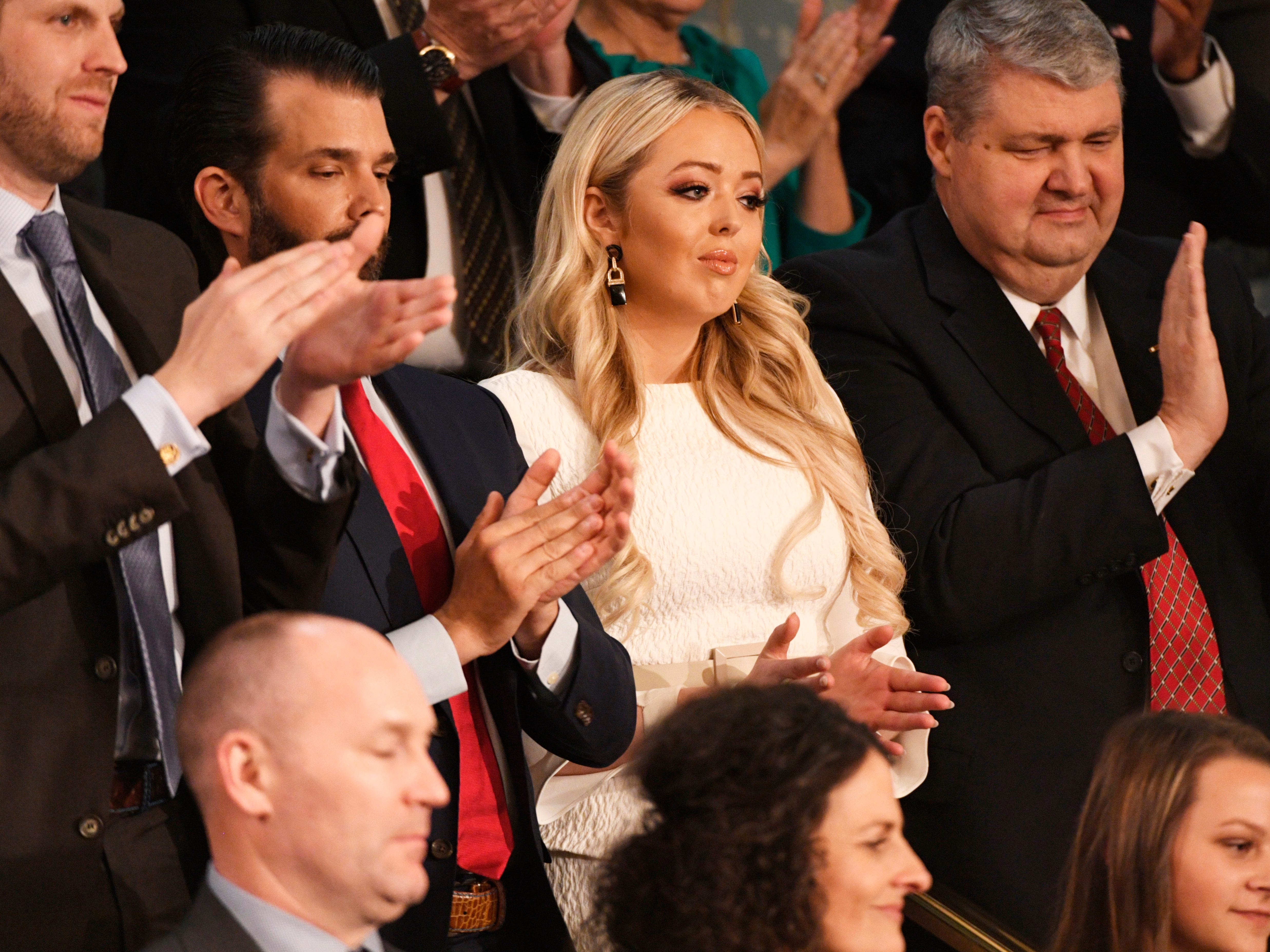 Tiffany Trump listens as President Donald Trump delivers the State of the Union address.