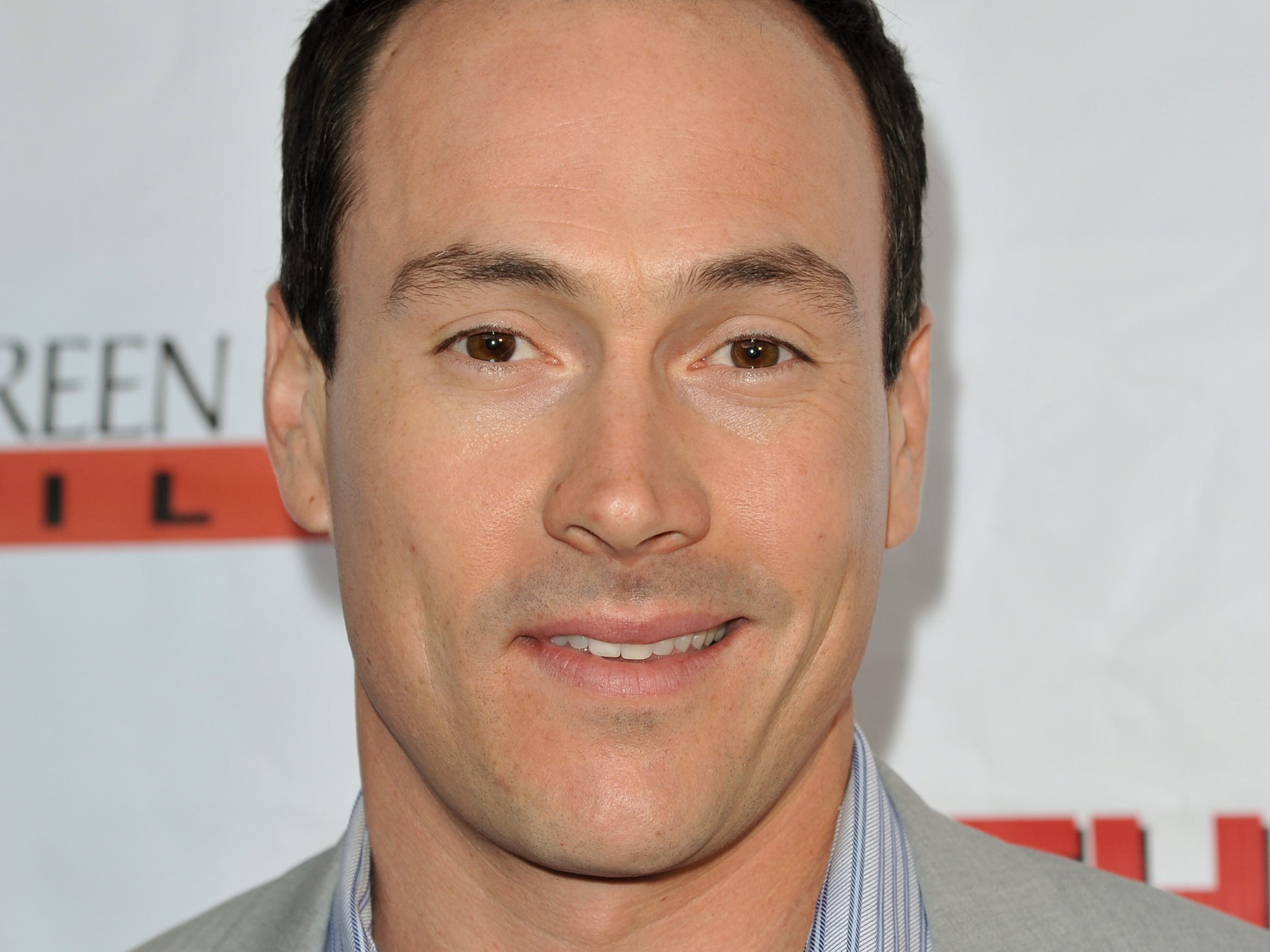 "Chris Klein arrives at the LA Premiere of ""Authors Anonymous"" on Wednesday, April 9, 2014, in Los Angeles. (Photo by Richard Shotwell/Invision/AP) ORG XMIT: INVW [Via MerlinFTP Drop]"