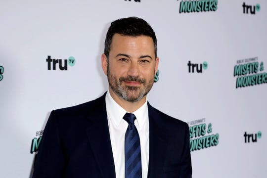 """Jimmy Kimmel arrives at the LA Premiere of """"Bobcat Goldthwait's Misfits and Monsters"""" at The Hollywood Roosevelt, Wednesday, July 11, 2018, in Los Angeles. (Photo by Willy Sanjuan/Invision/AP) ORG XMIT: CAWS101"""