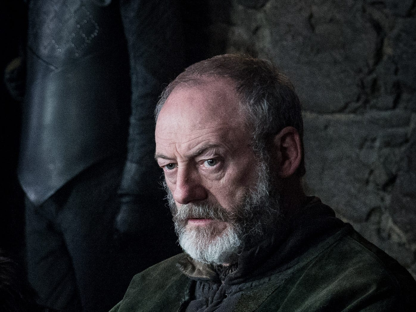 "Liam Cunningham as Davos on ""Game of Thrones."""