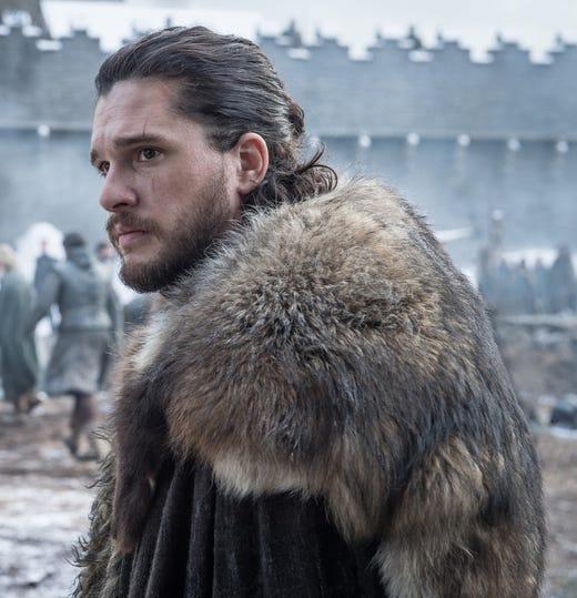 Kit Harington as Jon Snow on