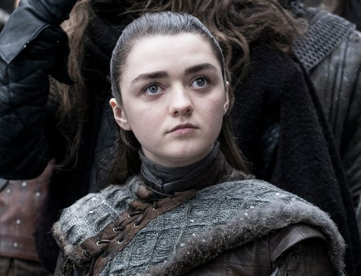 Maisie Williams as Arya Stark on